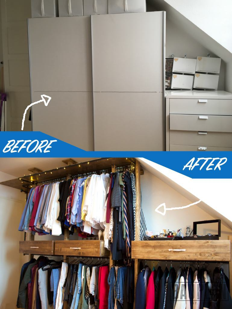 Top Kleiderschrank selber bauen | DIY Schlafzimmer Projekt | DIY Bauplan CD31