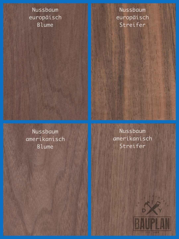 Fabulous Holzarten in Farbe und Maserung erkennen | Werkstoff Holz | DIY BY62