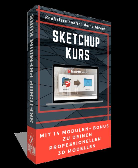 Onlinekurs Sketchup Grundlagen lernen mit DIY Bauplan und Matthias